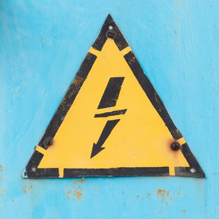electrical hazard sign Banque d'images