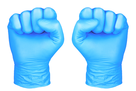 photo hand isolated glove gesture fists  hand in fists position