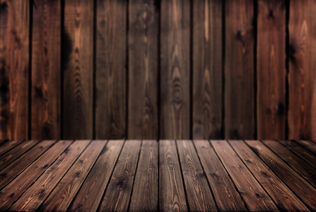 wooden table on blurred background / photo imitation design element