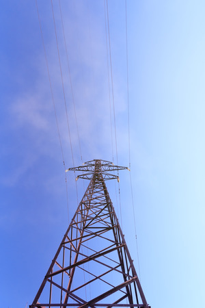 powerline abstract photo / geometric shapes abstract landscape 免版税图像