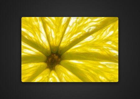 lemon close-up .background photo of Passepartout Standard-Bild