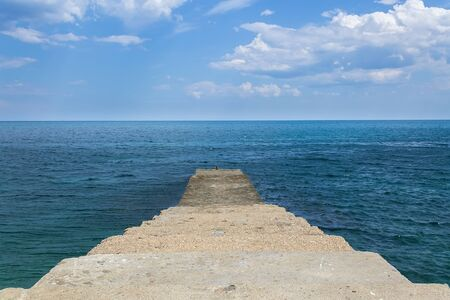 calm black sea / pier berth southern coast of Crimea