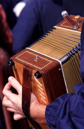 player of accordion