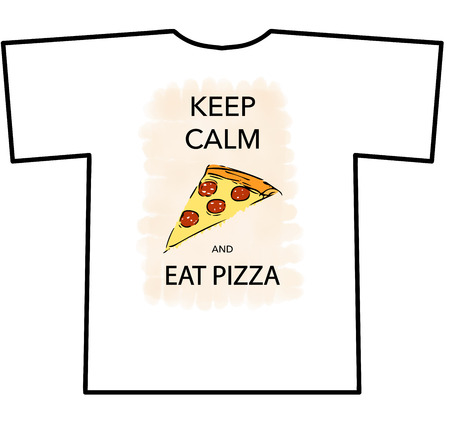 cheesy: KEEP CALM AND EAT PIZZA t-shirt design