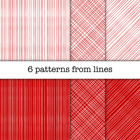 width: Set of patterns from lines with different width Illustration