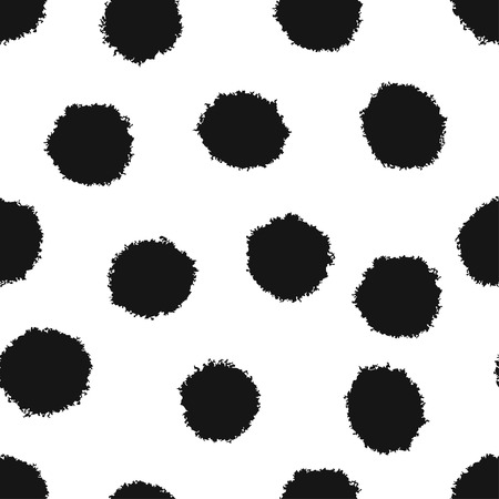recolor: Seamless pattern with abstract fluffy balls, easy to recolor
