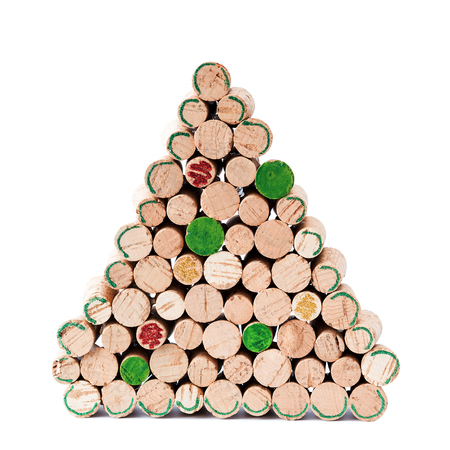 Hand made christmas tree from wine corks