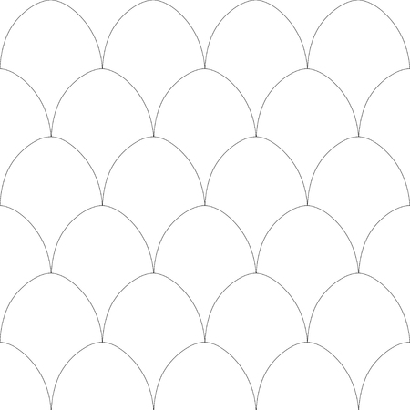 Simple seamless pattern with eggs in a rows Ilustração