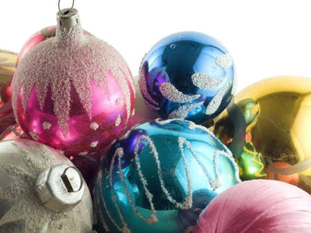 new year s eve: Picture of bundle of beautiful christmas ornaments