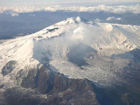 Mt. Etna, Sicliy - Aerial View.