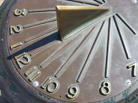 昼食の時間 - 太陽ダイヤル 写真素材