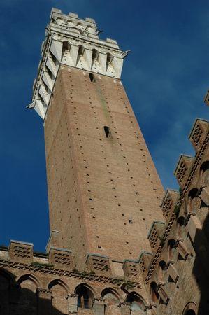 Clock Tower - Siena, Italië Stockfoto