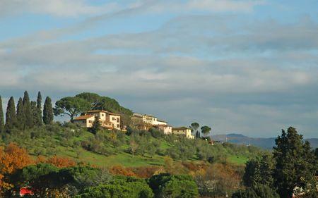 Tuscan Countryside Stock Photo