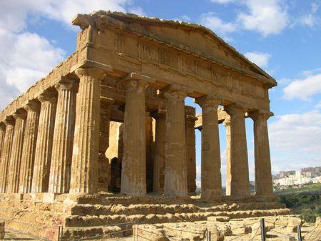Greek Temple of Concord, Sicily Stock Photo