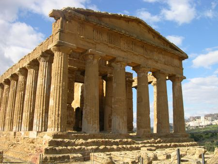 Greek Temple of Concord, Sicily Stock Photo