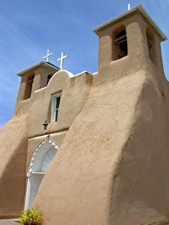 Taos Kerk Stockfoto