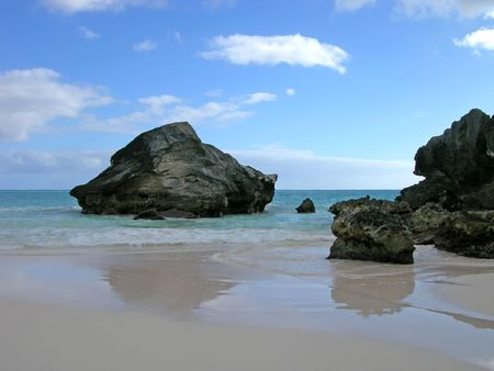 Beach Reflections - Horseshoe Bay, Bermuda