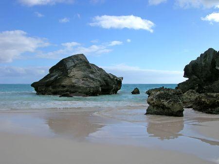 Beach Reflections - Horseshoe Bay, Bermuda