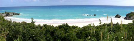 Panoramisch uitzicht van Horseshoe Bay, Bermuda Stockfoto