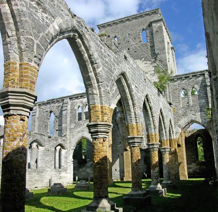 befejezetlen: Unfinished Church, St. George Bermuda