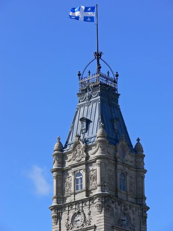 Clock tower on top of the National Assembly building, Quebec City.