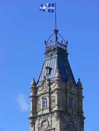 Klok toren op de top van de Nationale Assemblee gebouw, Quebec City.