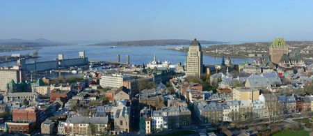 Panoramic view of historic Quebec City.
