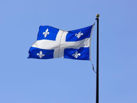 De Fleur-de-Leie vlag van Quebec. Stockfoto