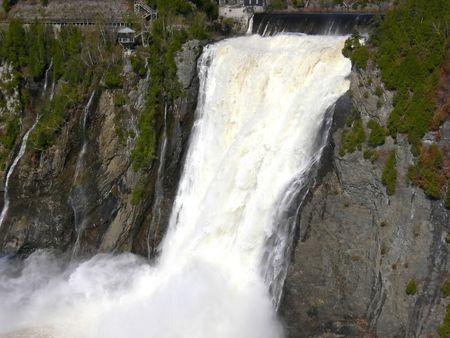 The terrific waterfalls at Montmorency, Quebec. Stock fotó