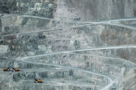 open pit: Open pit mining, Thetford Mines, Quebec.