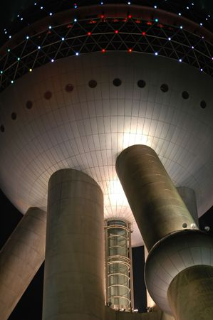 Science fiction style - the Pearl Tower, Shanghai, China.