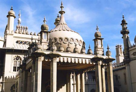 The fantastical architecture of the Prince Regents Pavilion, Brighton, England. photo