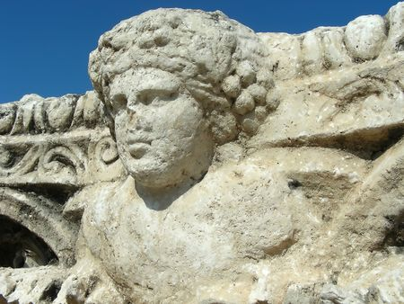 Face like an angel, in the Roman ruins at Bet Shean, Israel.