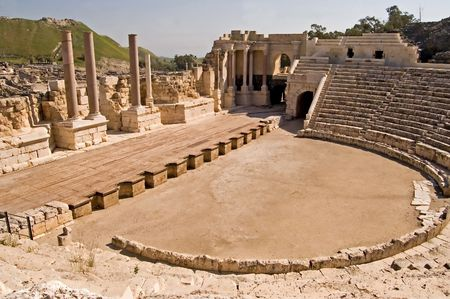 Ancient Roman theatre at Bet Shean, Israel.