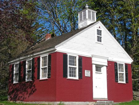 Historic old school house in Chelmsford, Massachusetts. Stock Photo