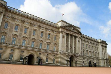 De voorzijde van Buck ing ham Palace, Londen, Engeland.