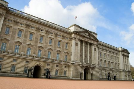 The front of Buckingham Palace, London, England. Stock Photo