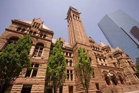 Historic Old City Hall, downtown Toronto, Ontario, Canada.