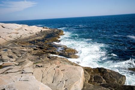 The rugged Atlantic coast, near Peggys Cove, Nova Scotia, Canada. photo
