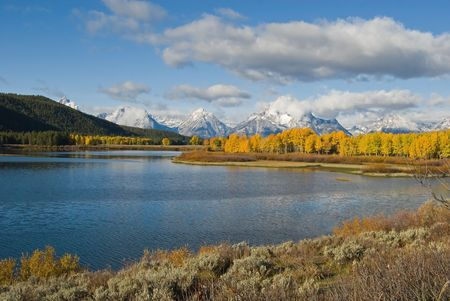 oxbow bend: The OxBow bend in the Snake River, Grand Teton National Park, Wyoming.