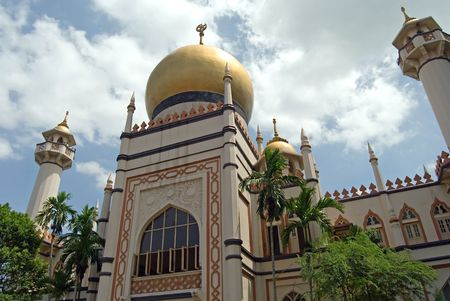Classic architecture and a wonderful golden dome - the Sultans Mosque, Singapore.