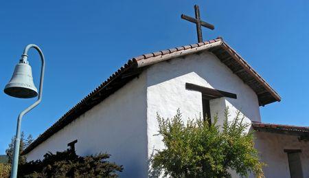 The historic old Spanish mission, Sonoma, California.