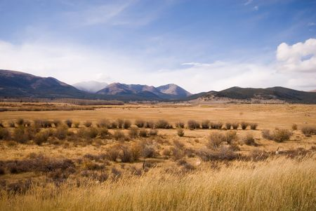 Wide open range land just west of Denver, Colorado. Stock Photo