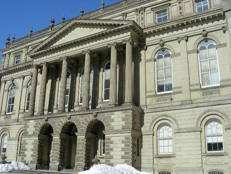 Historic Osgoode Hall, in downtown Toronto, Ontario, Canada.