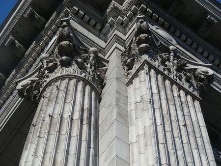Classic columns on an historic downtown Toronto bank.