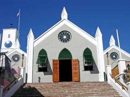bermuda: Historic St. Peters church in St. George, Bermuda.
