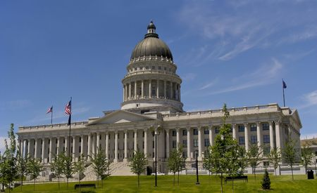 Very elegant looking - the Utah State House, Salt Lake City.           Stock Photo