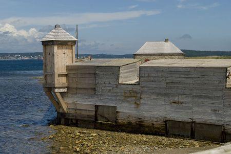 Walls and battlements of Fort Louisburg, Nova Scotia, Canada.