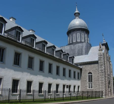 The landmark Ursuline Convent in the historic old town of Trois Rivieres, Quebec.