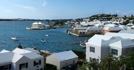 The lovely and historic harbour at St. George, Bermuda. Stock Photo